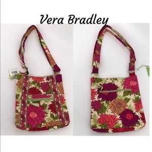 Vera Bradley Hello Dahlia Hipster Bag